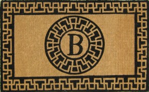 aztec-monogram-door-mat-G397