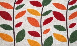 leaves-flower-welcome-mat-G490