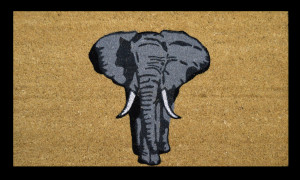 one-elephant-door-mat
